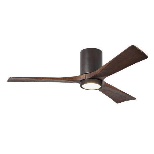 Irene Textured Bronze 52-Inch Ceiling Fan with Three Walnut Tone Blades, image 1