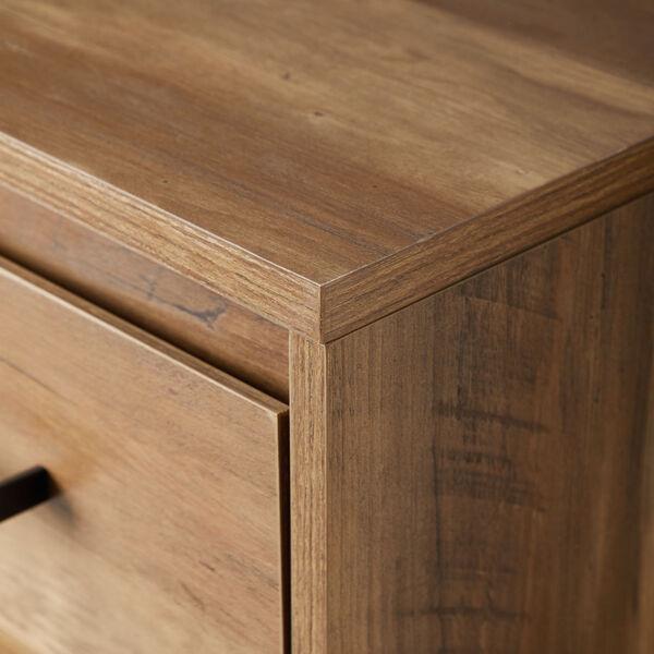 Ingrid Reclaimed Barnwood and Black Three Drawer Desk, image 5