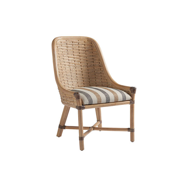 Los Altos Gold and Ivory Keeling Woven Side Chair, image 1