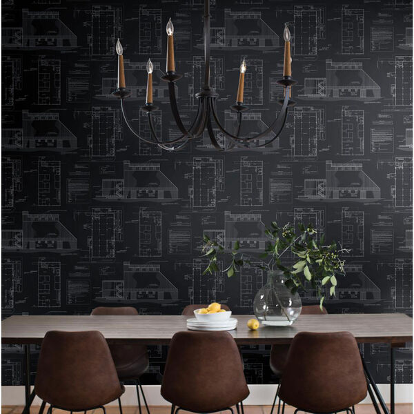 The Market Black and White Removable Wallpaper, image 4