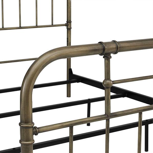 Queen Size Bronze Metal Pipe Bed, image 5