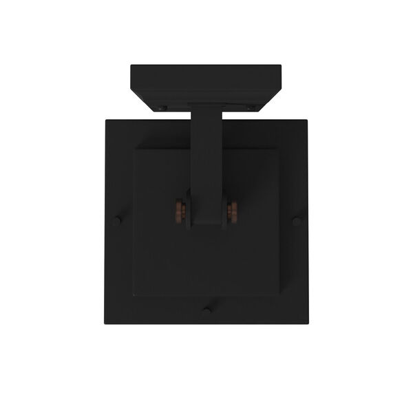 San Marcos Black with Antique Copper Accents 11-Inch One-Light Outdoor Wall Sconce, image 3