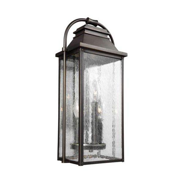 Buchanan Bronze 9-Inch Three-Light Outdoor Wall Lantern, image 1