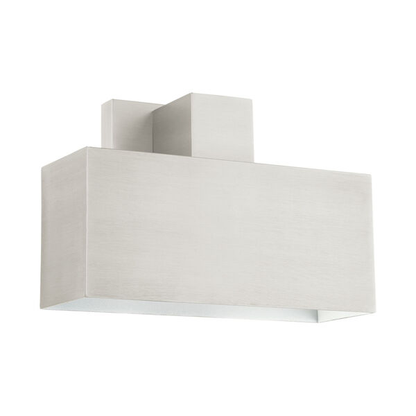 Lynx Brushed Nickel Nine-Inch One-Light Outdoor ADA Wall Sconce, image 2