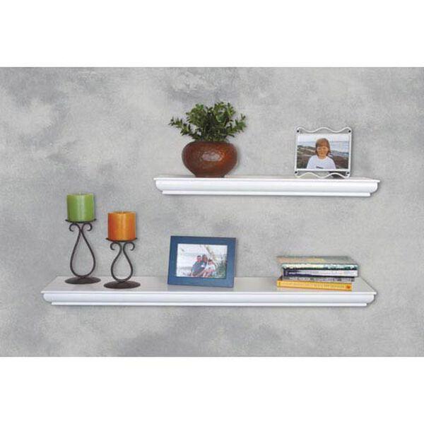 White Floating Shelf, 8 x 36 x 1.75-Inches, image 2