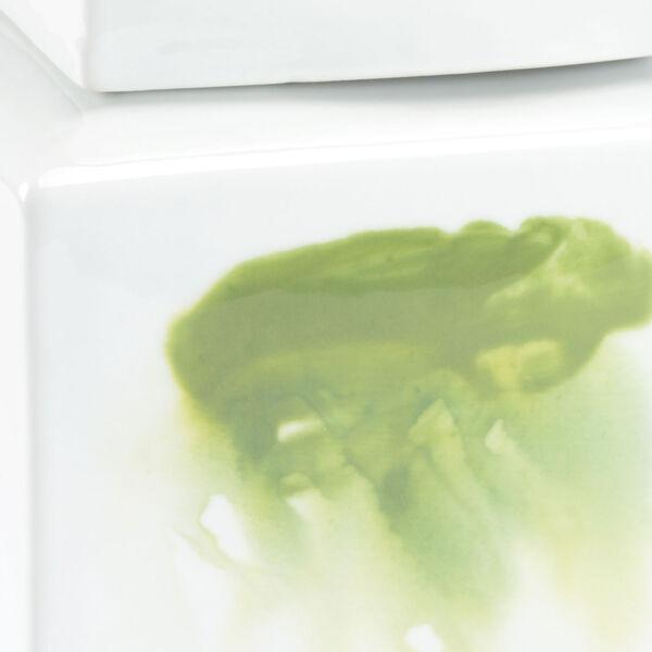 Green and White Six-Inch Jizhou Vase, image 2