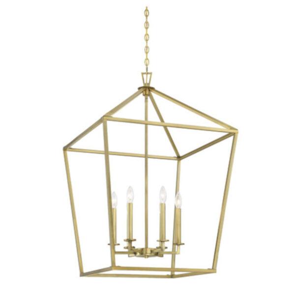 Anna Polished Brass 24-Inch Six-Light Pendant, image 3