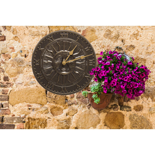 French Bronze Sunface Clock, image 3
