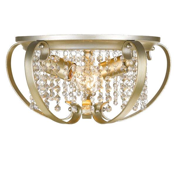 Ella White Gold Two-Light Flush Mount, image 1