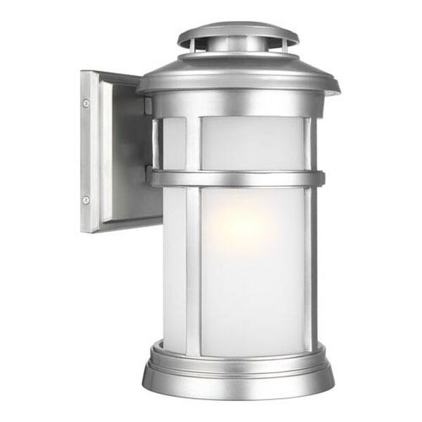 Chelmsford Painted Brushed Steel 8-Inch One-Light Outdoor Wall Lantern, image 1