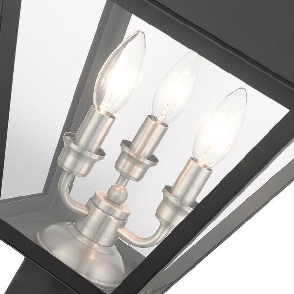 Mansfield Black Three-Light Outdoor Post Lantern, image 6