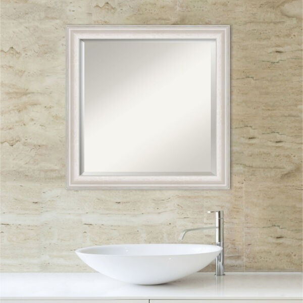 Trio White and Silver 24W X 24H-Inch Bathroom Vanity Wall Mirror, image 5