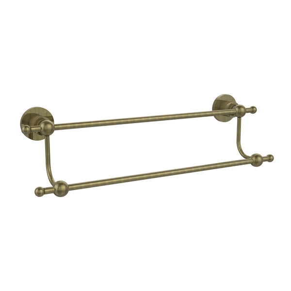 Astor Place Antique Brass 24 Inch Double Towel Bar, image 1