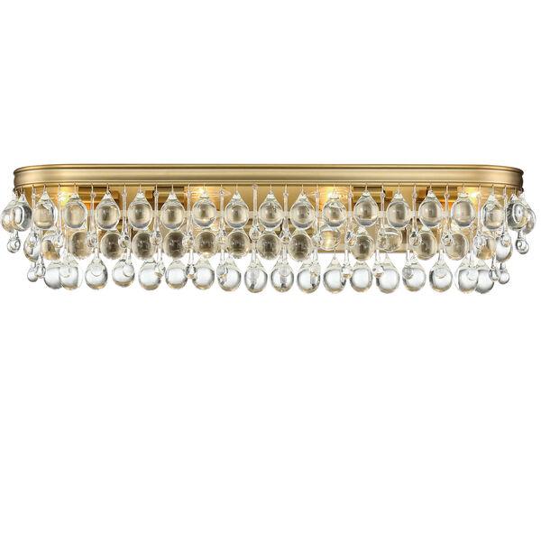 Calypso Eight-Light Vibrant Gold Bath Light, image 1
