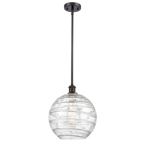 Ballston Oil Rubbed Bronze 12-Inch One-Light Pendant with Clear Glass Shade, image 1