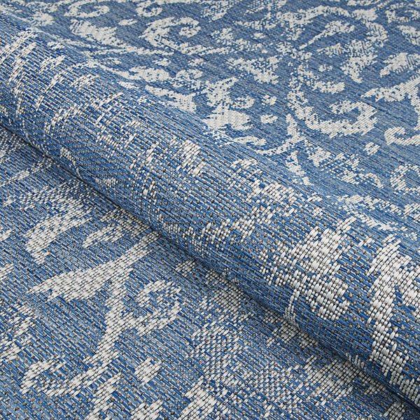 Marseille St. Marcel Blue Rectangular: 7 Ft. 6 In. x 10 Ft. 9 In. Indoor/Outdoor Rug, image 5