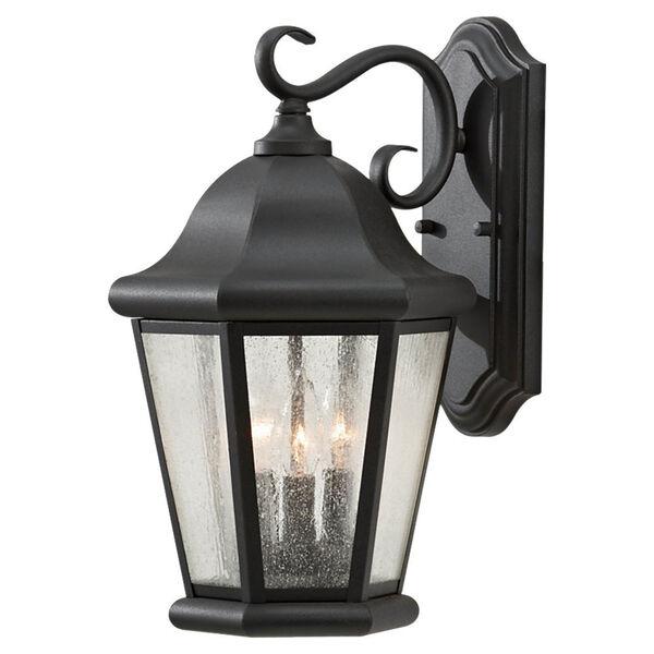 Martinsville Black Outdoor Wall Lantern Light - Width 10.25, image 1