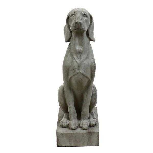 Colonial Fiberstone Watchful Dog Figurine, image 1