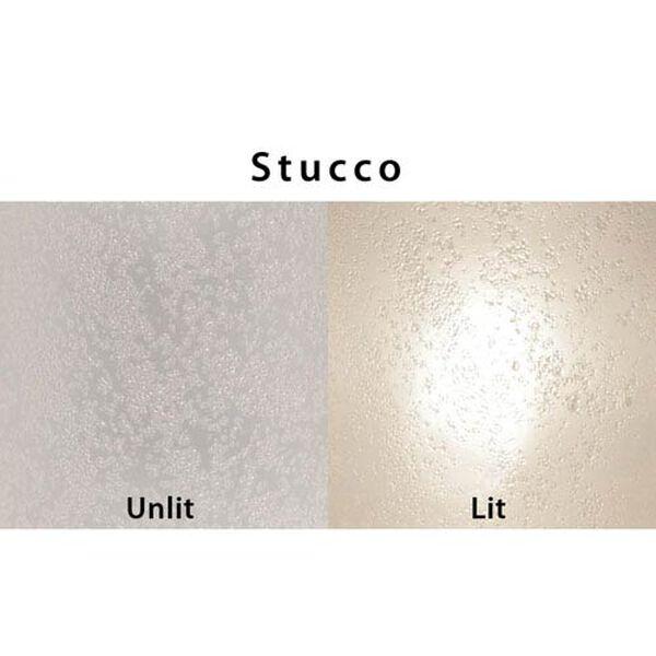Trio 12 White One-Light Flush Mount with Stucco Glass, image 2