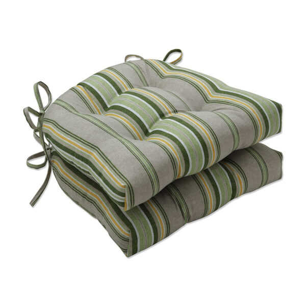 Terrace Green Natural Yellow Large Chairpad, Set of Two, image 1