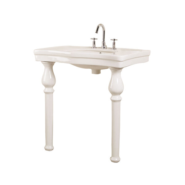 Milano Bisque 8-Inch Spread Console Sink with Stand, image 1