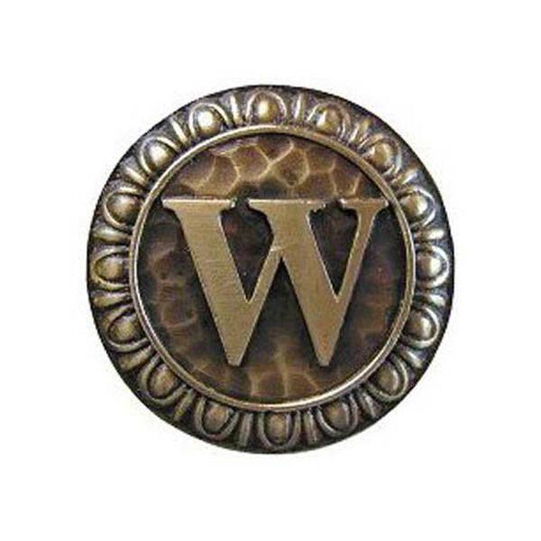 Antique Brass 'W' Knob , image 1