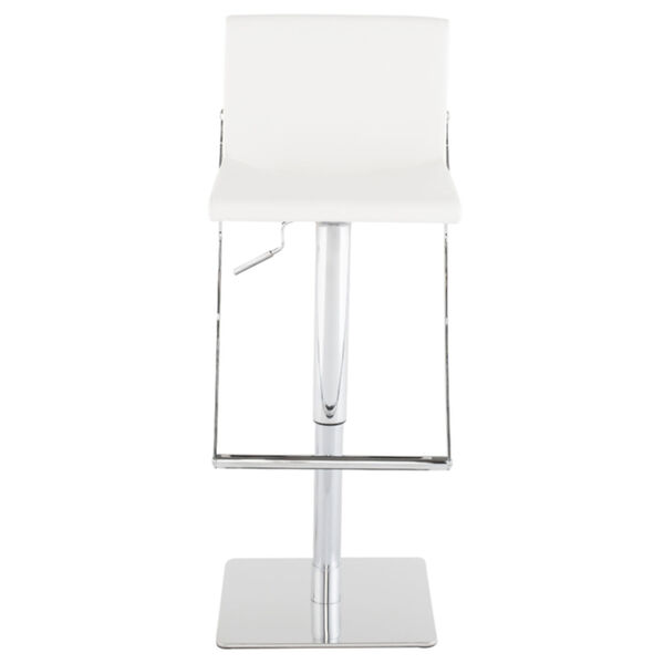 Swing White and Silver Adjustable Stool, image 2