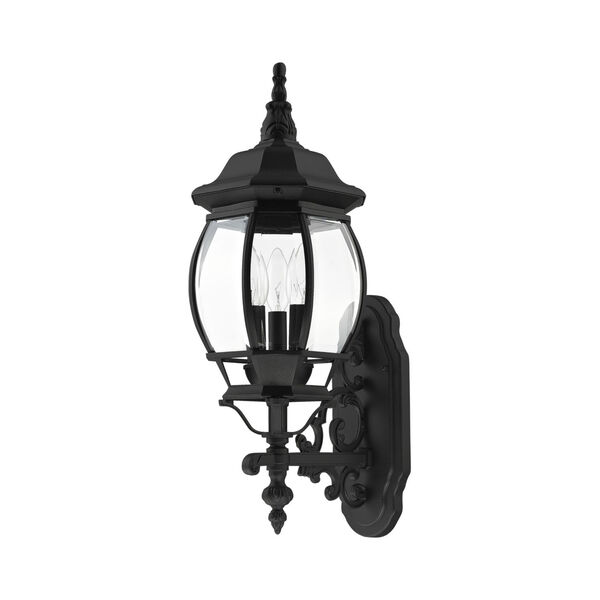 Frontenac Textured Black 22-Inch Three-Light Outdoor Wall Sconce, image 2