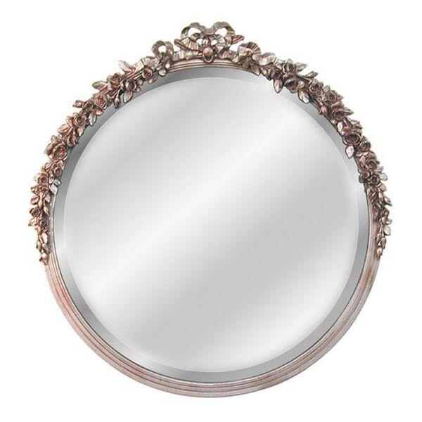 Round Rose Beveled Mirror , image 1