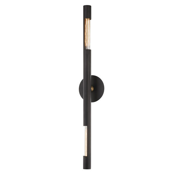Hendrix Chemical Bronze Six-Inch Two-Light Wall Sconce, image 1