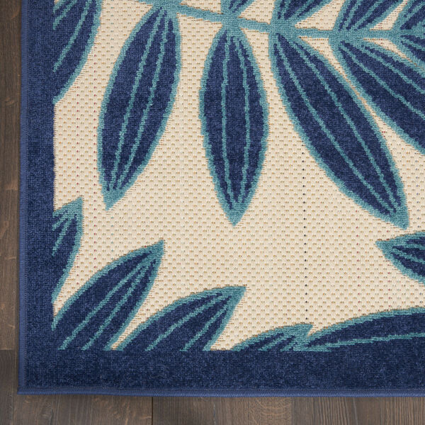 Aloha Navy Blue and White 6 Ft. x 9 Ft. Rectangle Indoor/Outdoor Area Rug, image 4