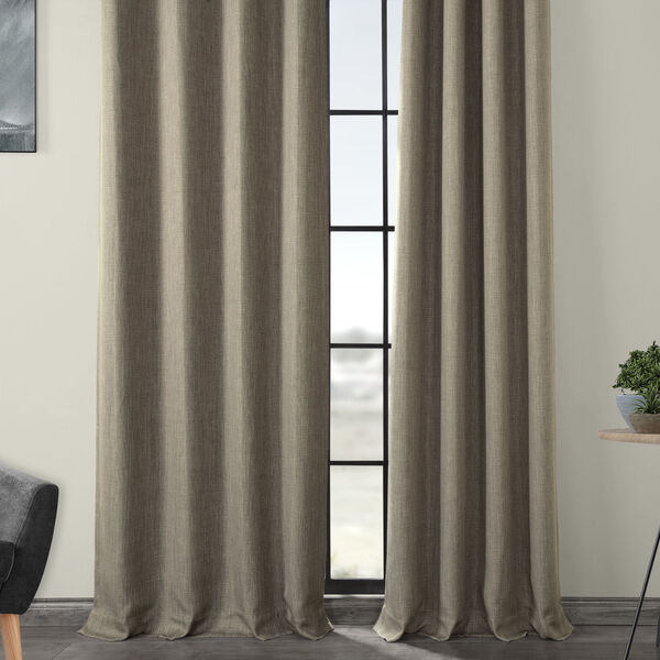 Grey 84 x 50-Inch Polyester Blackout Curtain Single Panel, image 4
