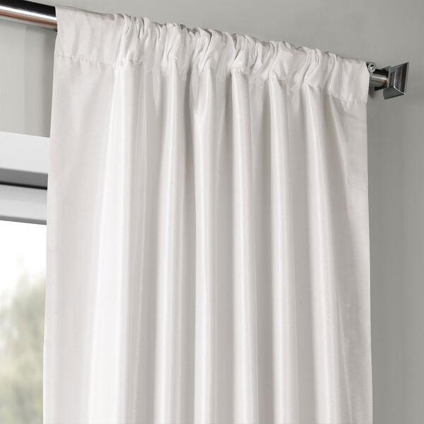 Ice Vintage Textured Faux Dupioni Silk Single Panel Curtain, 50 X 120, image 3