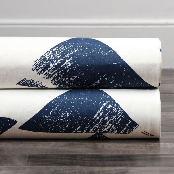 Triad Indigo 96 x 50 In. Printed Cotton Twill Curtain Single Panel, image 7