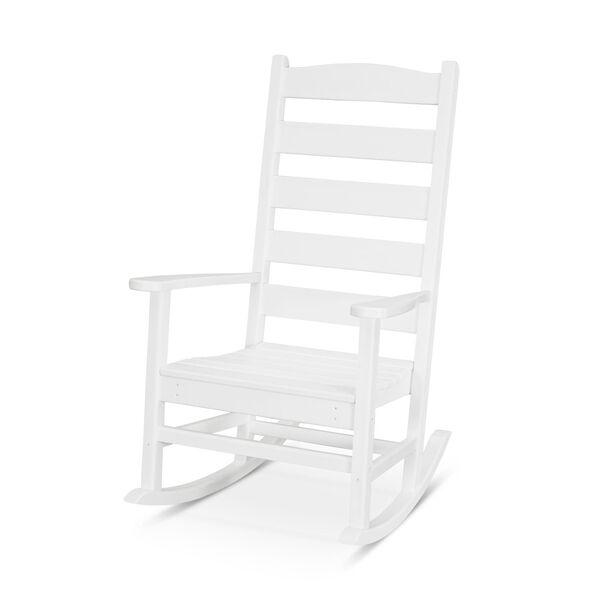 Shaker White Porch Rocking Chair, image 1