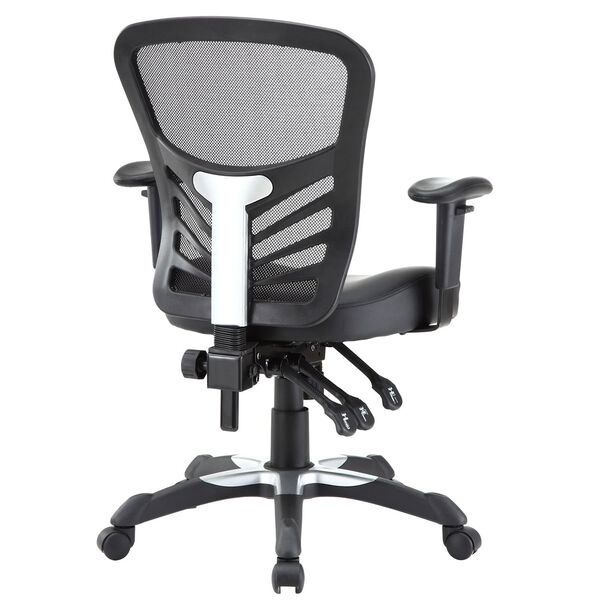 Articulate Vinyl Office Chair in Black, image 4