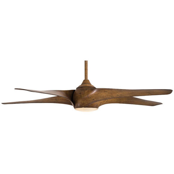 Artemis Distressed Koa Wood 62-Inch LED Ceiling Fan, image 3