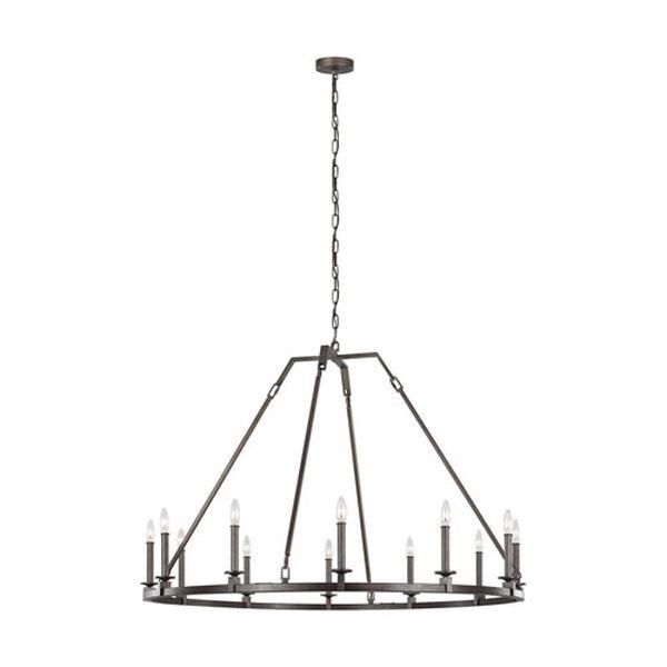 Heaton Steel 32-Inch 12-Light Chandelier, image 1