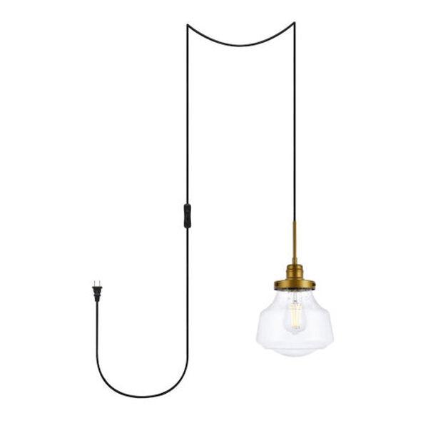 Lye Brass One-Light Plug-In Pendant, image 1