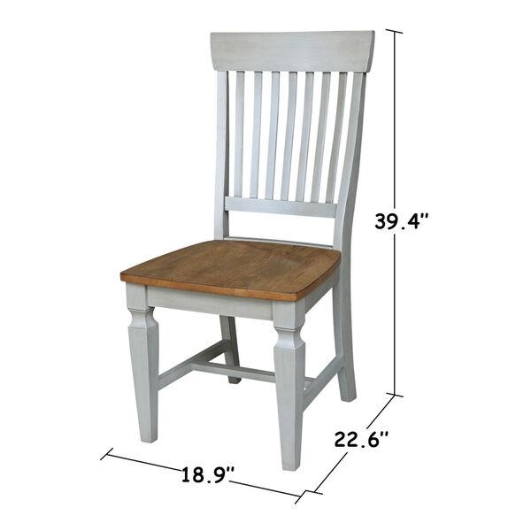 Vista Hickory Stone Slat Back Chair, Set of Two, image 3