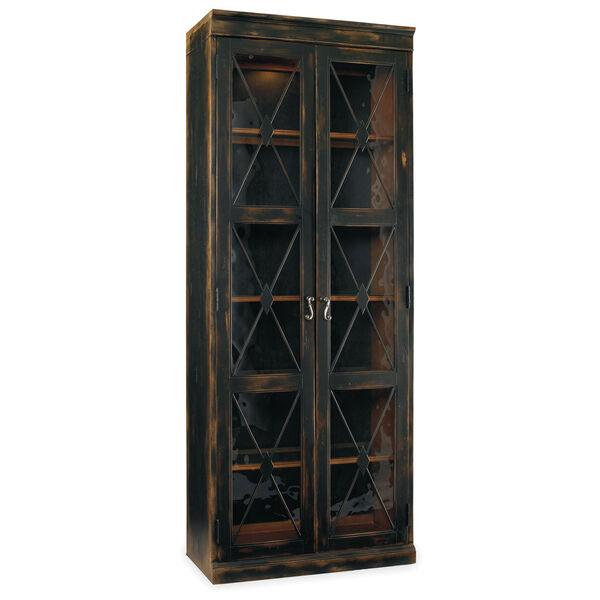 Sanctuary Two-Door Thin Display Cabinet - Ebony, image 1