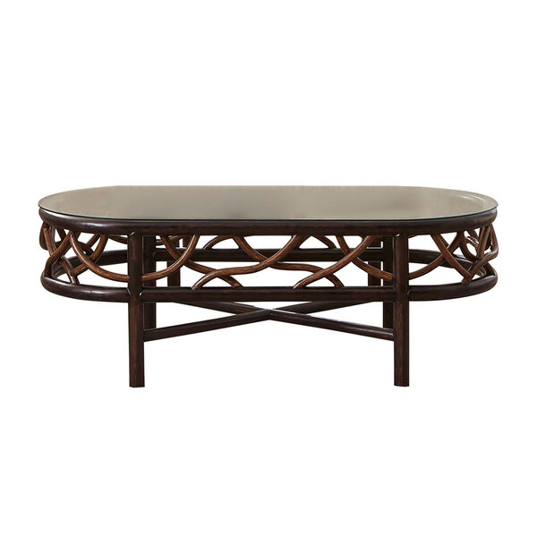 Trinidad Natural Indoor Coffee Table with Glass, image 1