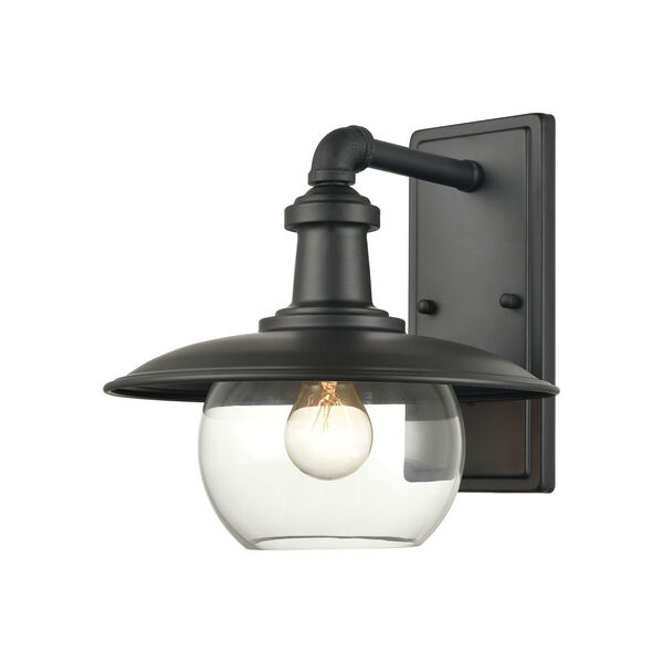 Jackson Matte Black 11-Inch One-Light Outdoor Wall Sconce, image 1