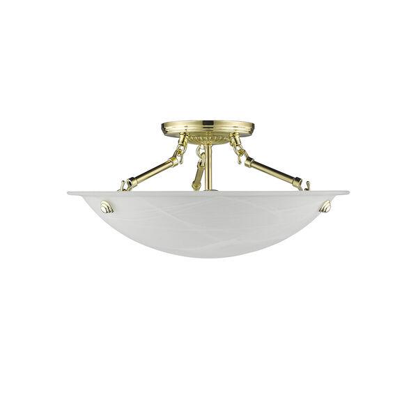 Polished Brass Semi-Flush, image 3