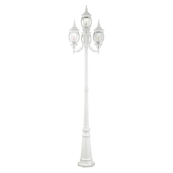Frontenac Textured White 24-Inch Four-Light Outdoor Post Lantern, image 2