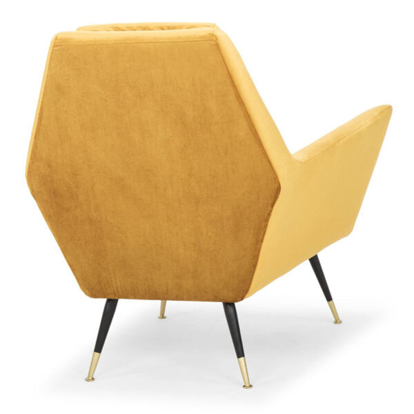 Vanessa Mustard and Black Occasional Chair, image 5