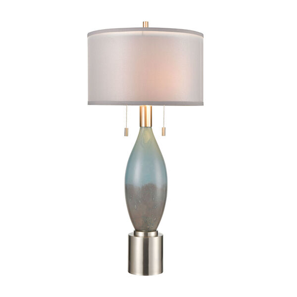 Torrontes Brushed Nickel Two-Light Table Lamp, image 1