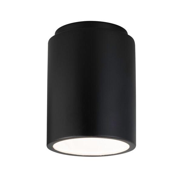 Radiance Carbon Matte Black GU24 LED Outdoor CylinderFlush Mount, image 1