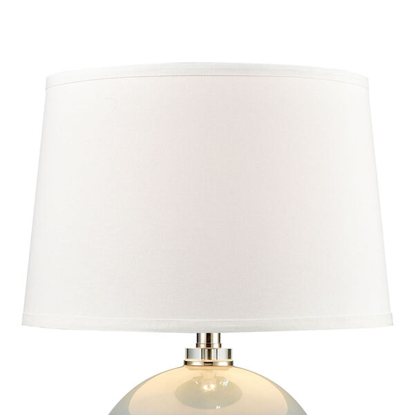 Culland Azure Blue and Polished Nickel One-Light Table Lamp, image 3
