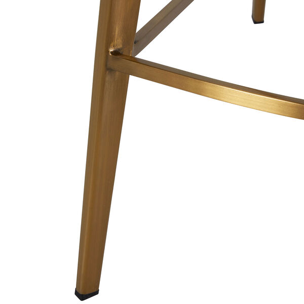 Hines Charcoal Brown and Stainless Gold 26-Inch Counter Height Stool, image 6